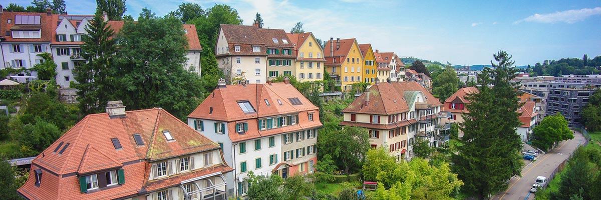 Professionelle Drohnen Luftaufnahmen von Winterthur und Zürich
