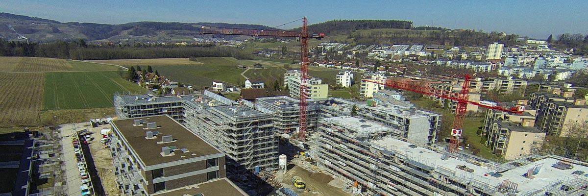 Luftaufnahmen / Luftbilder von Baustellen z.B. für eine Baustellendokumentation