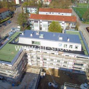 Luftaufnahme von einer Baustelle in Winterthur