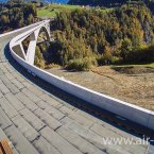 Luftaufnahmen von der Baustelle Taminabrücke