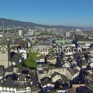 Luftaufnahmen von der Stadt Zürich