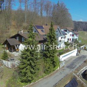 Luftaufnahme für den Immobilienverkauf