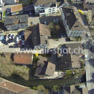 Luftaufnahme von der Stadt Uster
