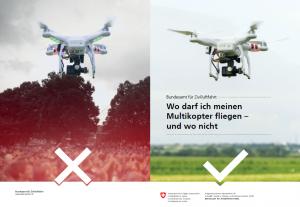 Am Drohnenkurs lernen Sie das regelkonforme Verhalten und das sichere Fliegen einer Drohne.  Das BAZL hat jetzt eine grafische Entscheidungshilfe erstellt.