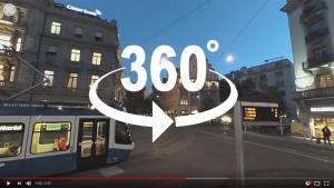 Hier bestimmen Sie die Perspektive! Tauchen Sie mit einem 360° Video ein in faszinierende, dynamische oder überwältigende Welten.